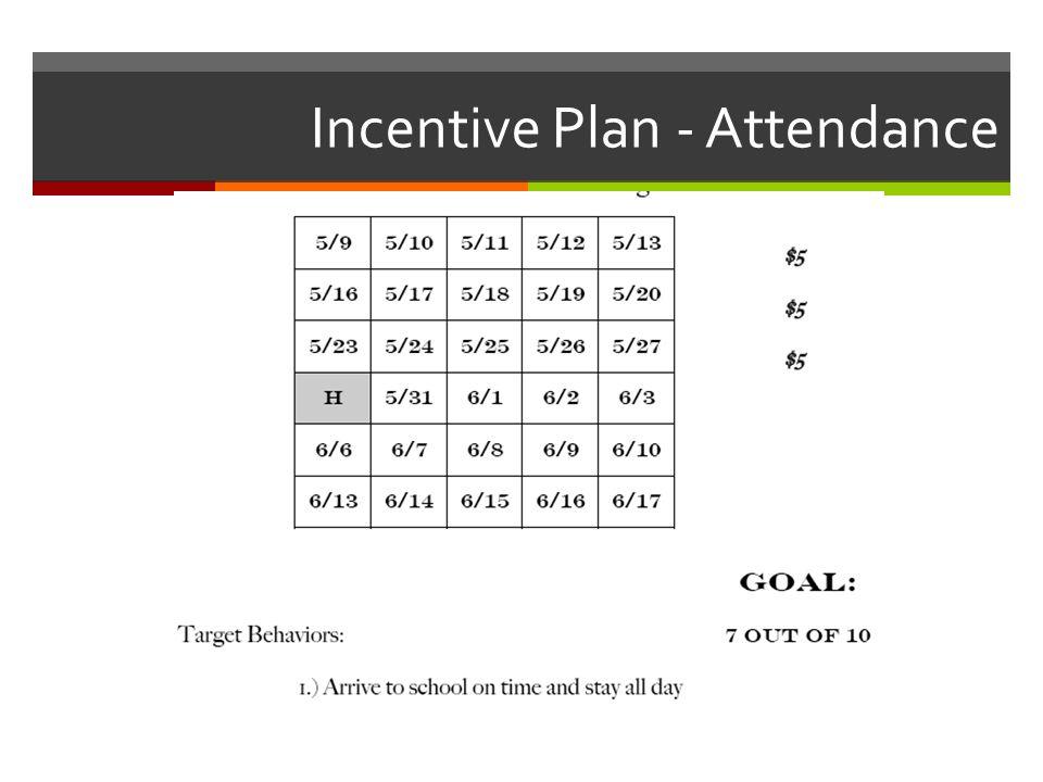 Incentive Plan - Attendance