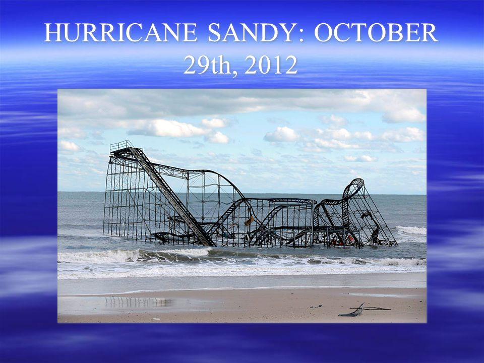 HURRICANE SANDY: OCTOBER 29th, 2012