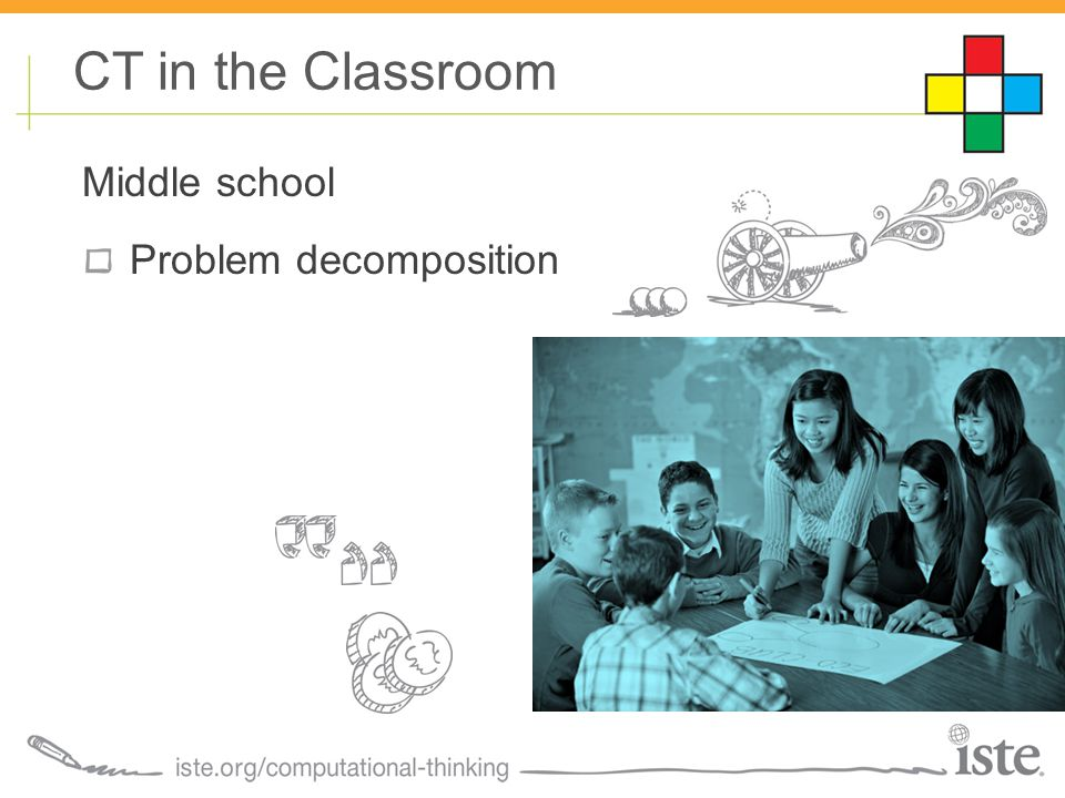 Middle school Problem decomposition CT in the Classroom