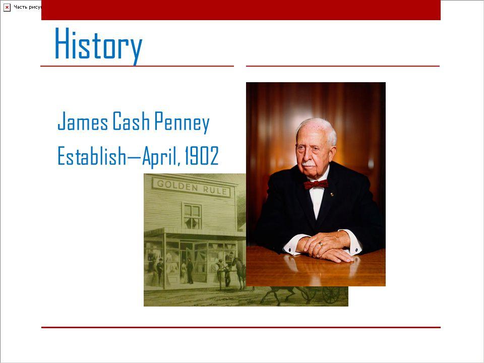 History James Cash Penney Establish—April, 1902