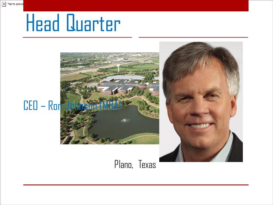 CEO – Ron Johnson (MBA) Head Quarter Plano, Texas