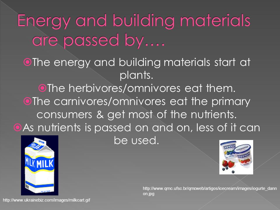  The energy and building materials start at plants.
