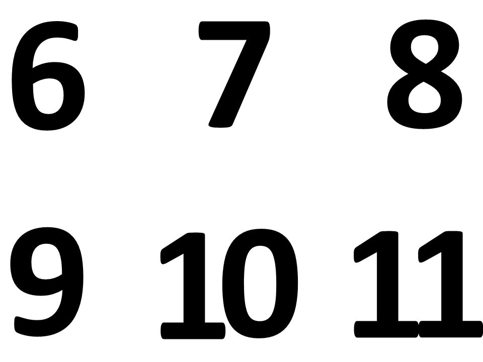 6 9 87 1 0 1 1