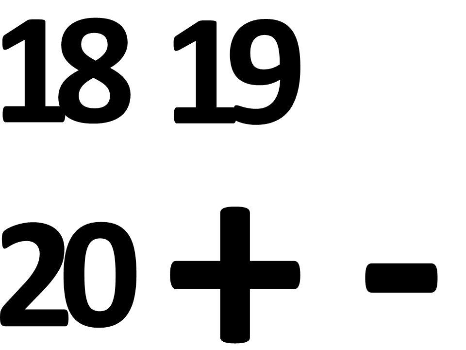 1 8 1 9 2 0 + -