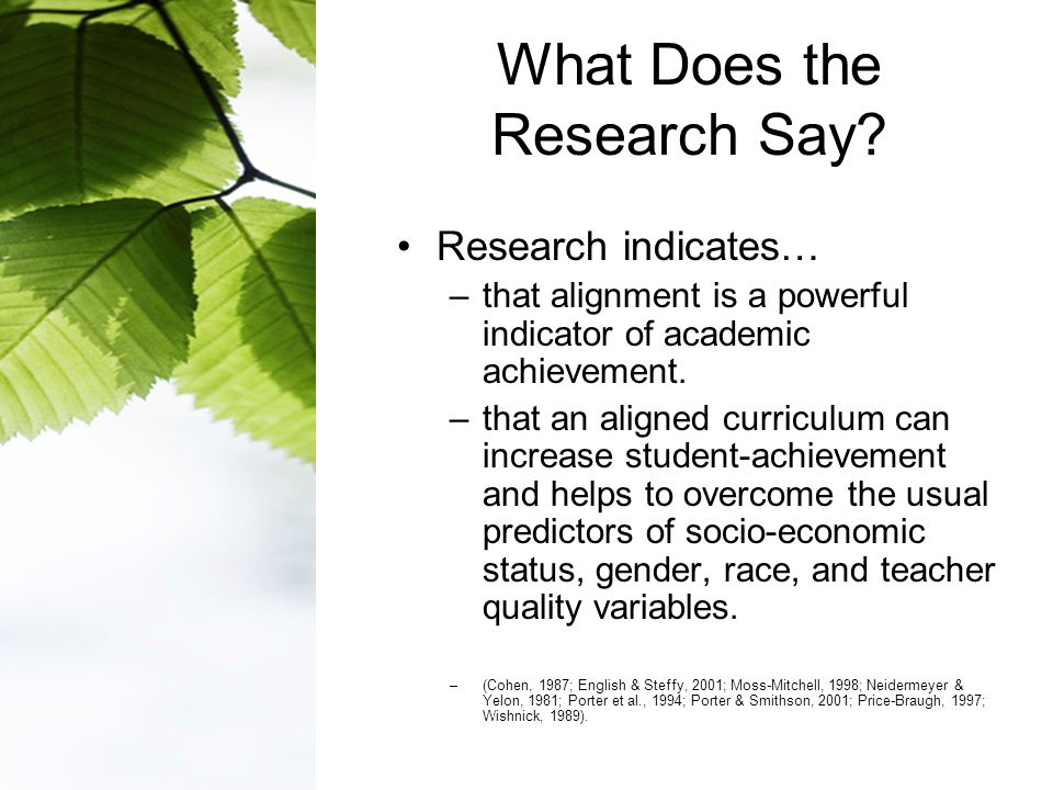 What Does the Research Say.
