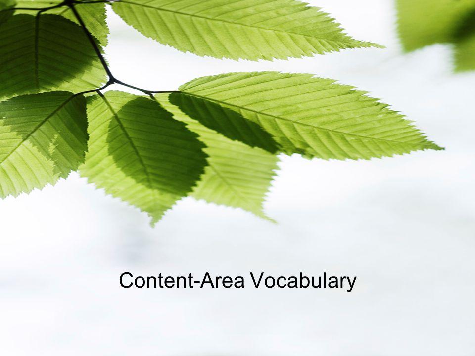 Content-Area Vocabulary