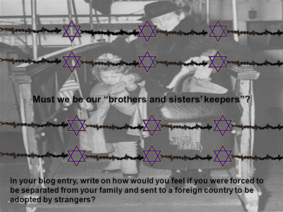 The Holocaust Chronicle - www.holocaust.org/staticpages/147.html The photos used as backgrounds were taken from: The Kindertransport Association - www.kindertransport.org/broch1.html A Teacher's Guide to the Holocaust - http://fcit.usf.edu/HOLOCAUST/ GALL31R/ 79076.htm