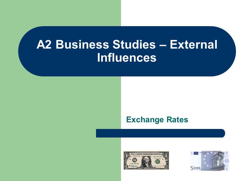 A2 Business Studies – External Influences Exchange Rates