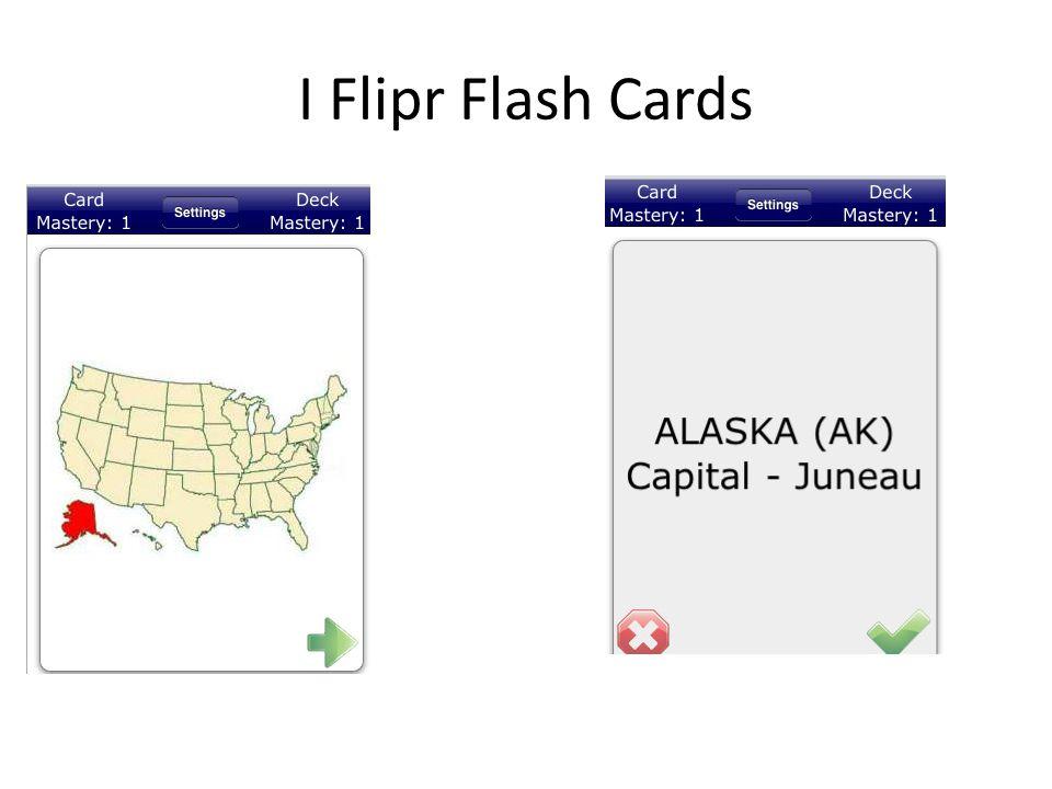 I Flipr Flash Cards