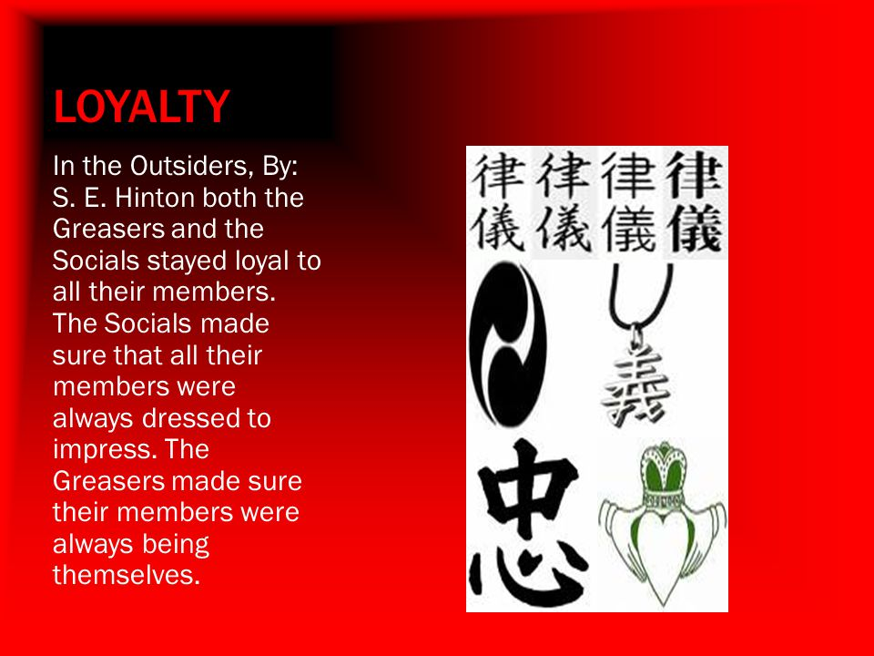 LOYALTY In the Outsiders, By: S.E.