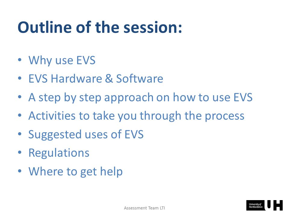 Why use EVS.Where shall we go tonight. No. – you can't hear me can you.