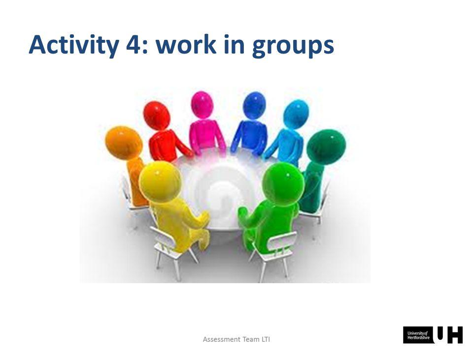 Activity 4: work in groups