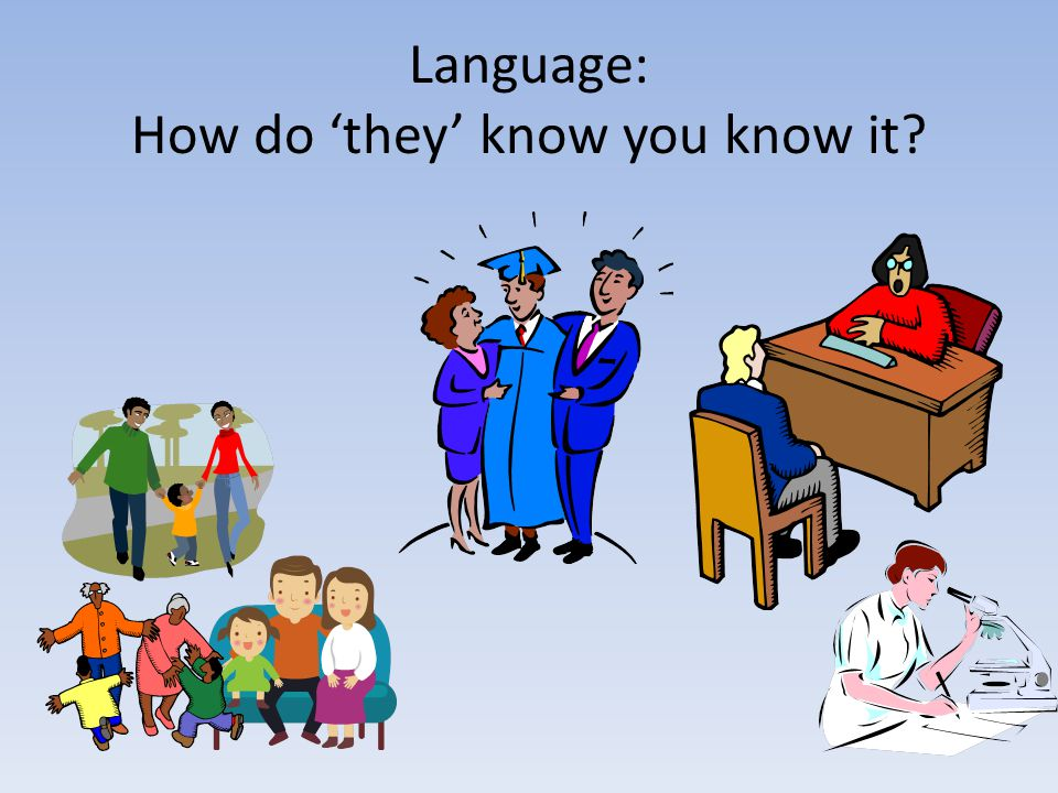 Language: How do 'they' know you know it?
