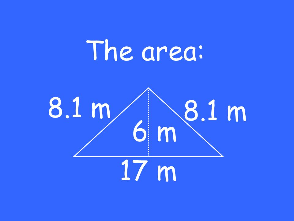 The area: 17 m 6 m 8.1 m