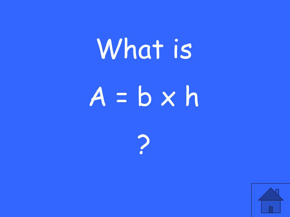 The formula used to find the area of a circle