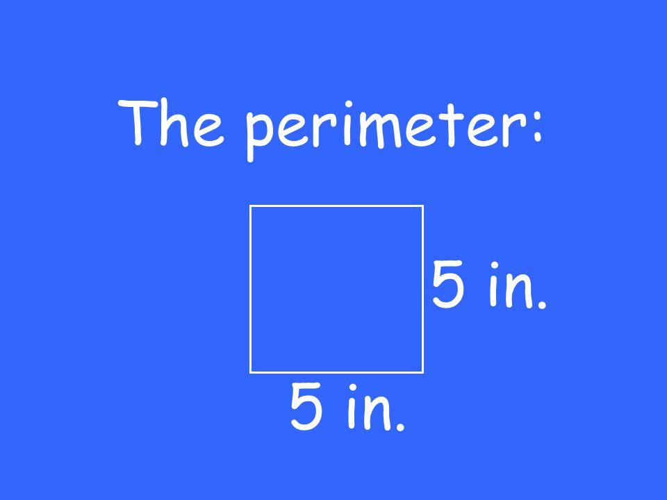 The perimeter: 5 in.