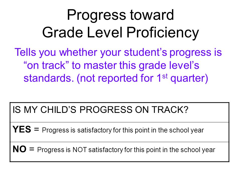 Year End Grade Level Proficiency 4 = Exceeds the standard (beyond end of year level expectations) 3 = Student work that demonstrates mastery of the entire standard (at end of year level) without teacher assistance.