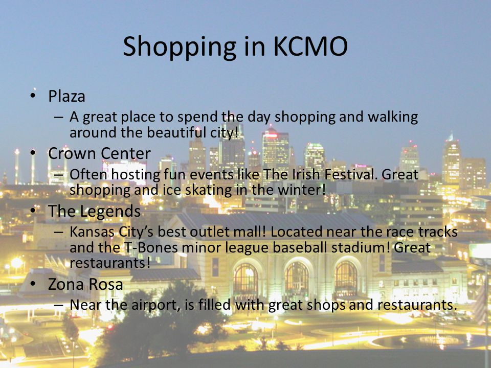 Shopping in KCMO Plaza – A great place to spend the day shopping and walking around the beautiful city.