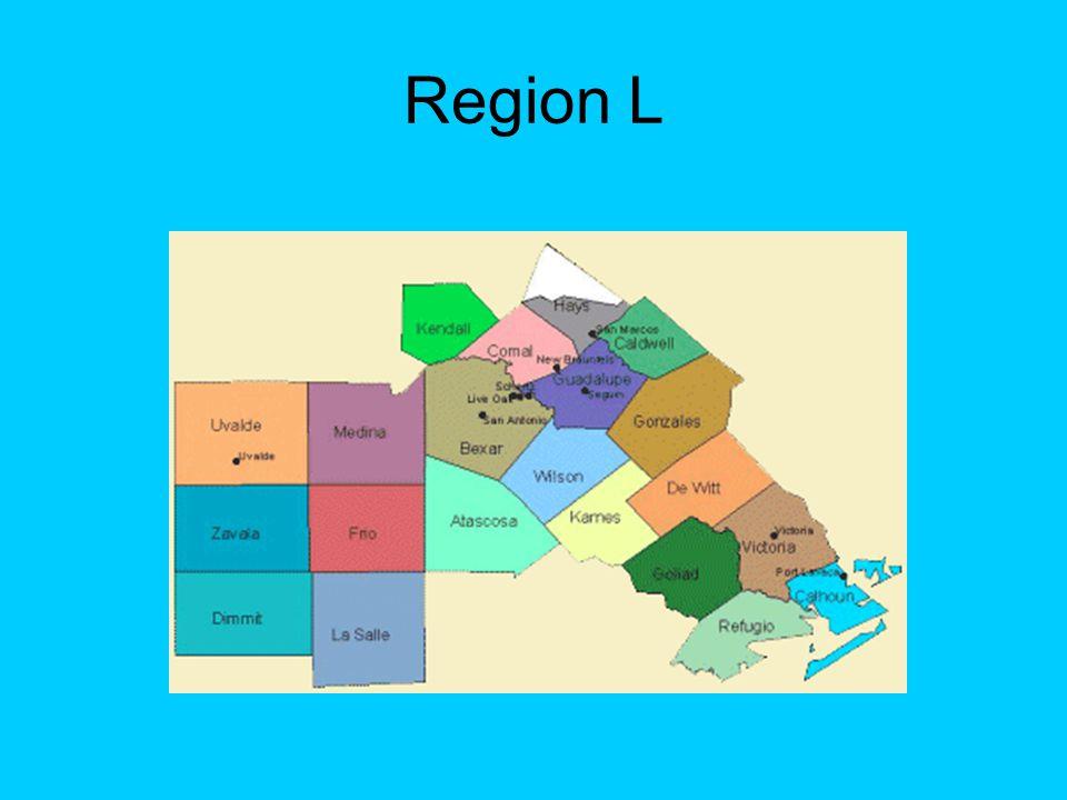 Hydrological Features of Region L Rivers: Guadalupe, San Antonio, Nueces, Lavaca-Guadalupe, San Antonio-Nueces Aquifers: Edwards (BFZ), Trinity, Carrizo- Wilcox, Gulf Coast