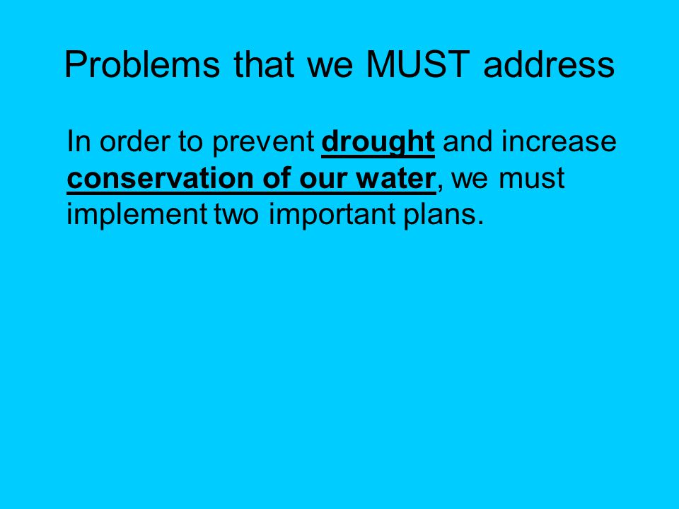 Irrigation Water Conservation Strategies We must formulate and implement some sort of strategy that insures that irrigation conservation is being practiced to the extent feasible.
