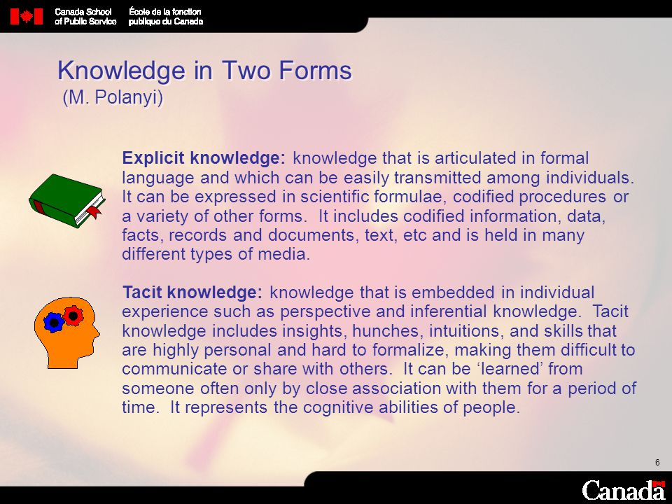 47 Desired End-State Information management policies, roles and responsibilities that are clear and understood by everyone Standard tools to support effective knowledge access and exchange are in place, and everyone knows how to use them A collaborative work environment with practices and processes that support productive and purposeful knowledge sharing Bank of Canada Knowledge Program Framework