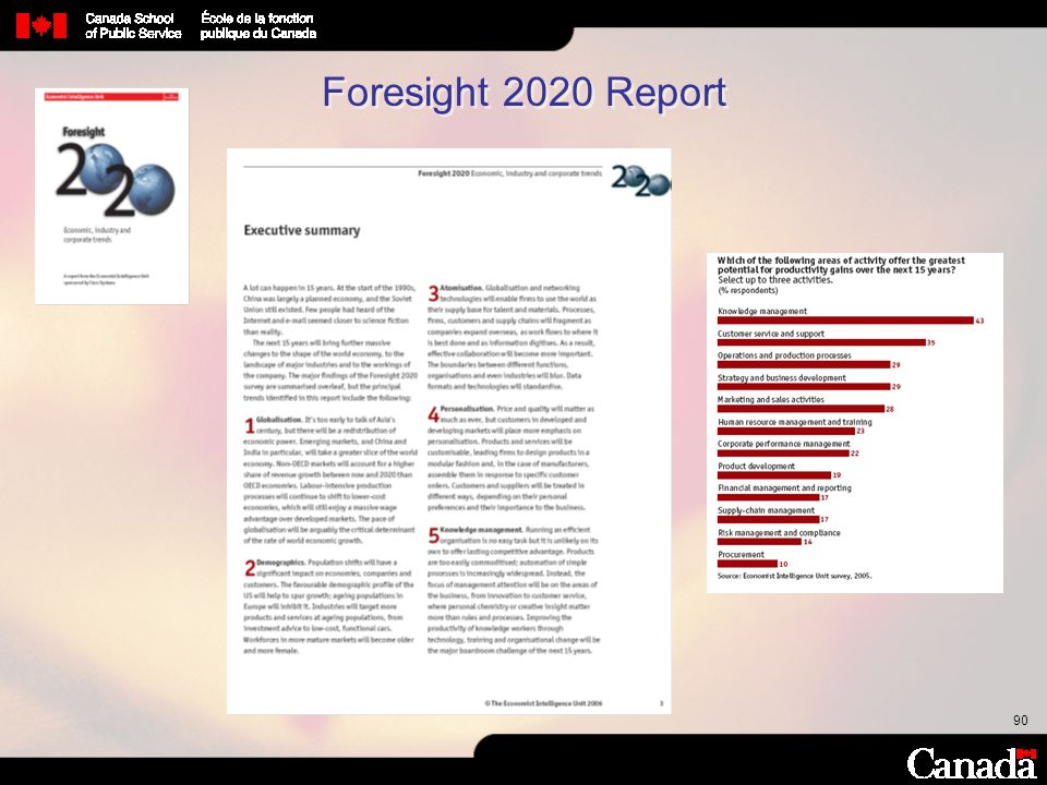 90 Foresight 2020 Report