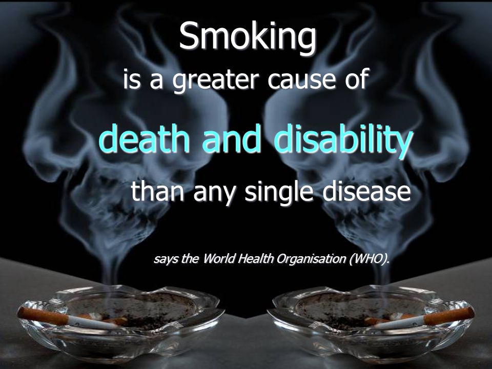 Smoking - some figures ► 1.1 billion smokers in the world today  1.6billion by the year 2025 ► 10 million cigarettes a minute are consumed worldwide
