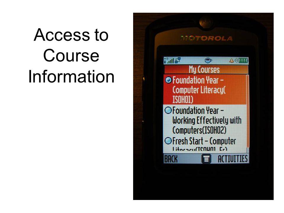 Access to Course Information