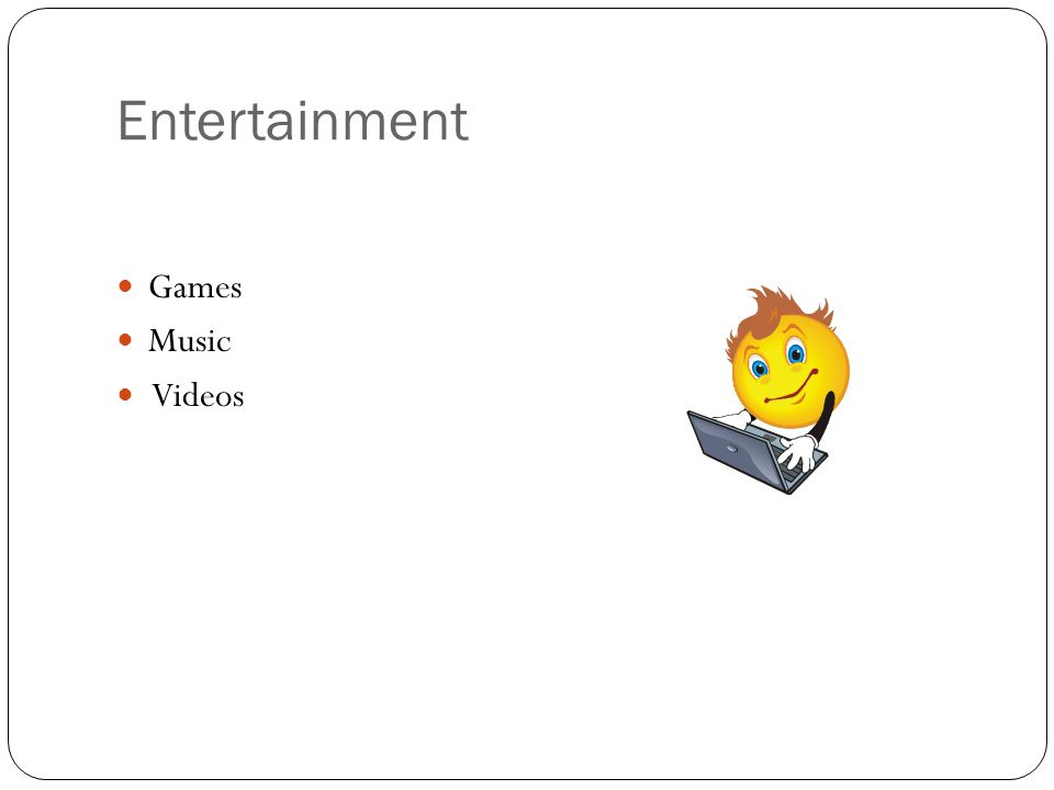 Entertainment Games Music Videos