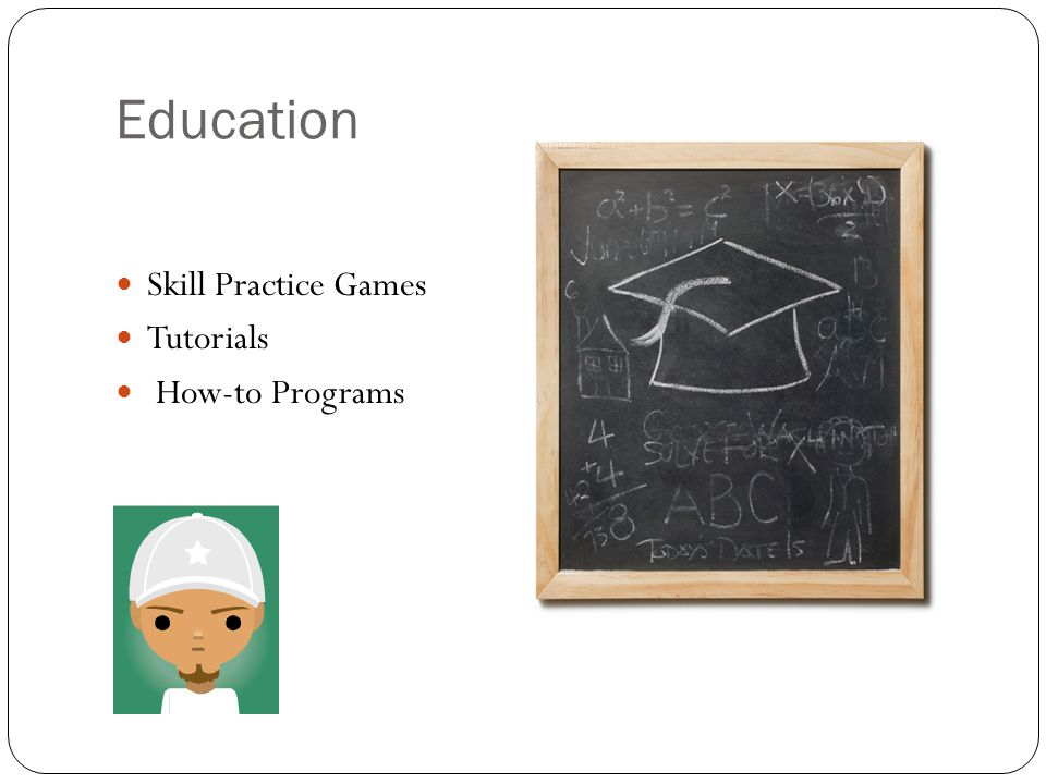 Education Skill Practice Games Tutorials How-to Programs
