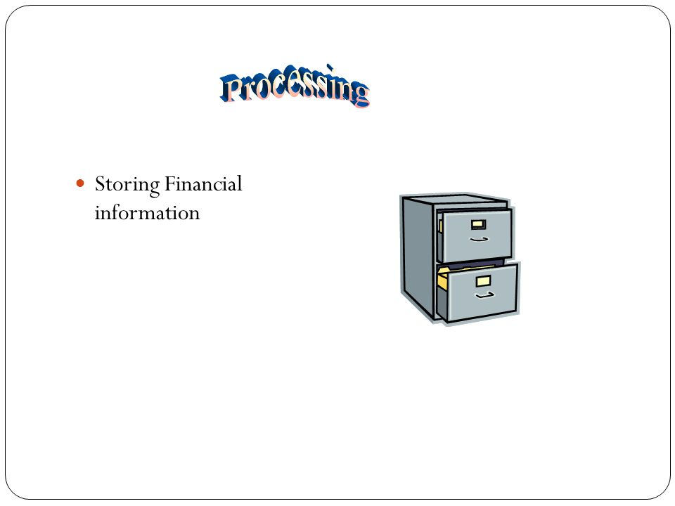 Storing Financial information