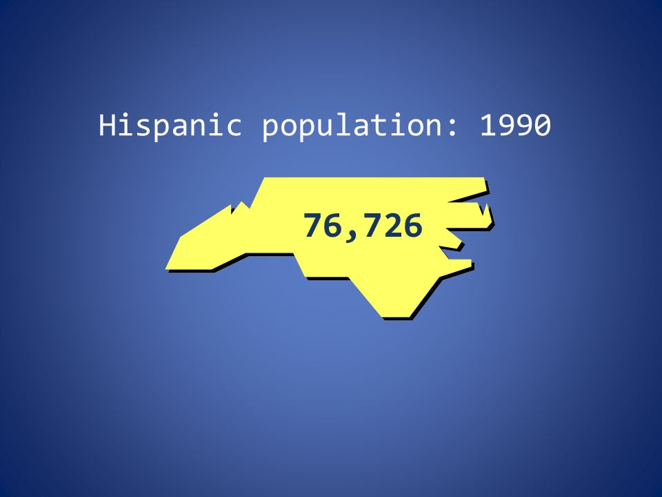 Hispanic population: 1990 76,726