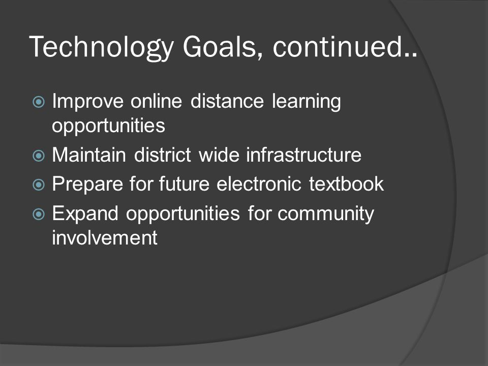 Works Cited  La Feria ISD technology plan: 2009 – 2012.