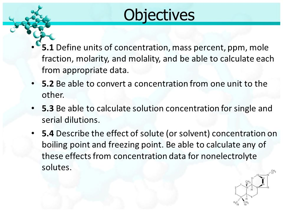 The Labs: General Format Prepare a solution of the assigned concentration.