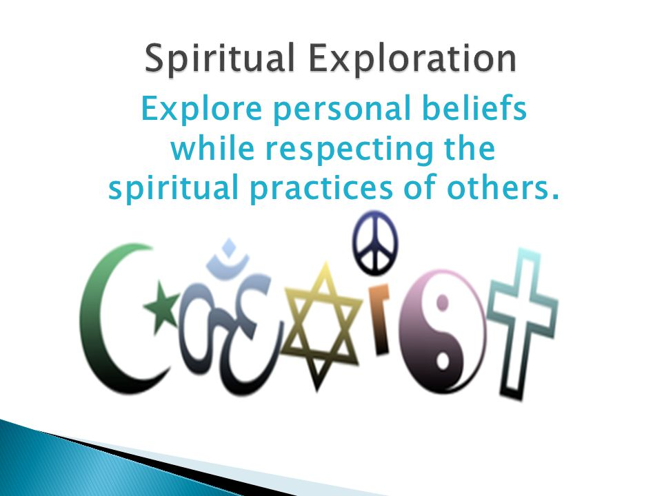 Explore personal beliefs while respecting the spiritual practices of others.