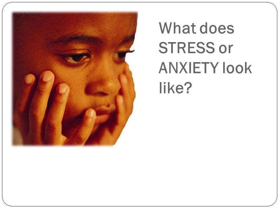 What does STRESS or ANXIETY look like