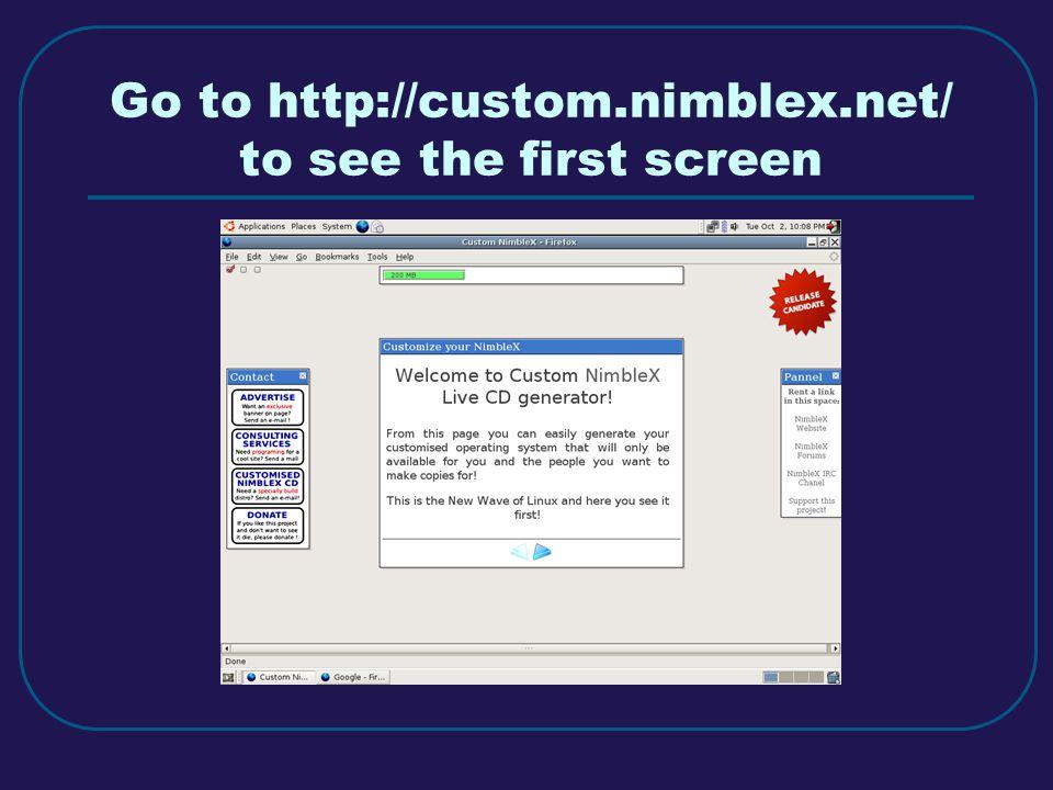 Select level of customization
