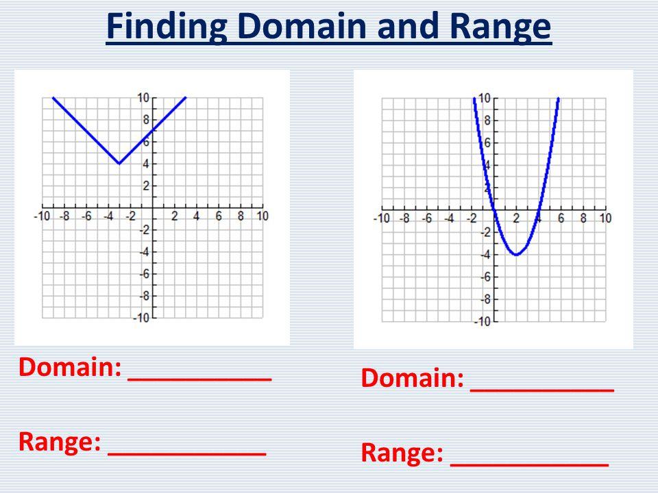 Domain: ______________ Range: _______________ Increasing: ____________ Decreasing: ___________ X-intercept: ___________ Y-intercept: ___________