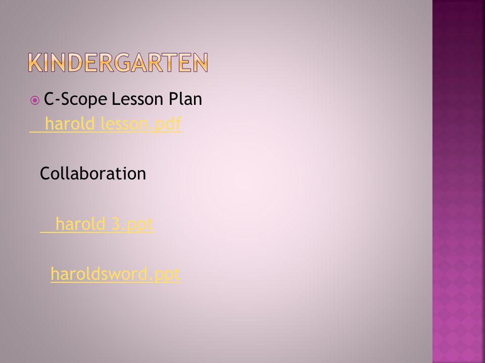  C-Scope Lesson Plan lonpopo.pdf Collaboration http://fairytales.pppst.com/ridinghood.html http://www.vickiblackwell.com/lit/lonpopo.