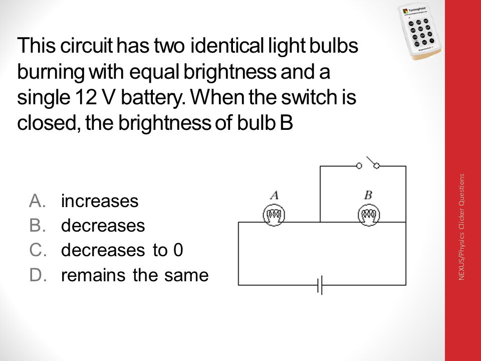Which of the bulbs in the following circuit is (are) the brightest.