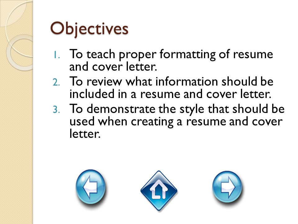 Lesson 5: What should be included in my cover letter.