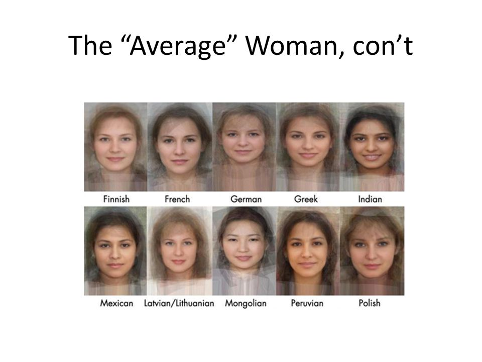 The Average Woman, con't