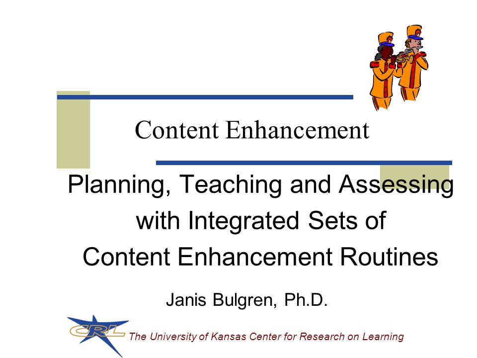 The University of Kansas Center for Research on Learning 2 Overall Concept 1 Concept 1 1 1 1 3 Characteristics 3 3 3 3 Multiple-Concept Comparison Table, p.