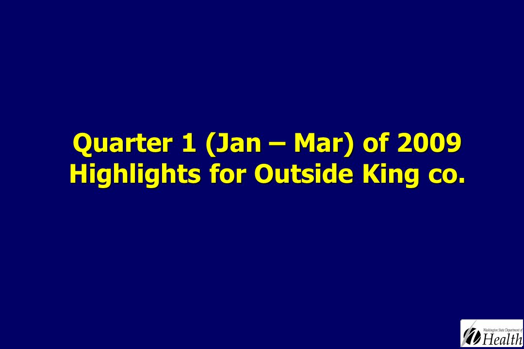 Quarter 1 (Jan – Mar) of 2009 Highlights for Outside King co.