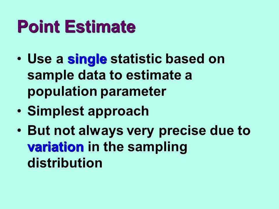 Confidence intervals estimateAre used to estimate the unknown population parameter Formula: statistic + margin of error