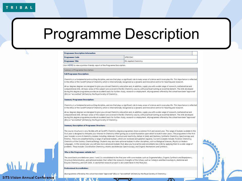 SITS:Vision Annual Conference Programme Description