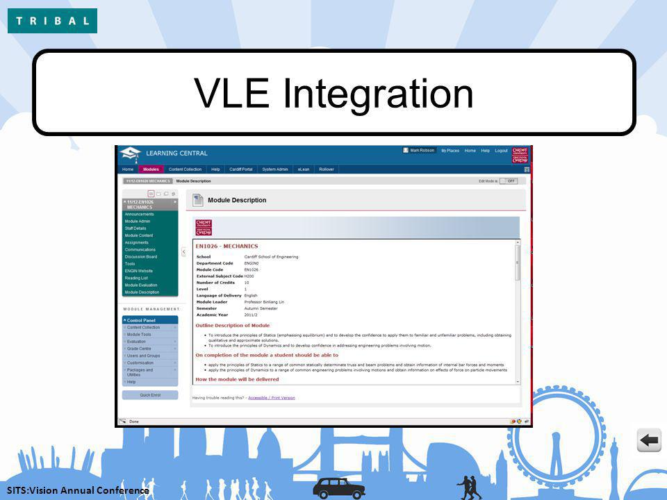 SITS:Vision Annual Conference VLE Integration