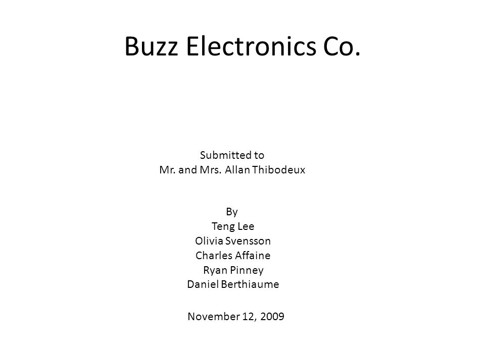 Buzz Electronics Co.