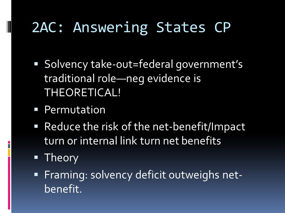 2AC: Answering States CP  Solvency take-out=federal government's traditional role—neg evidence is THEORETICAL.