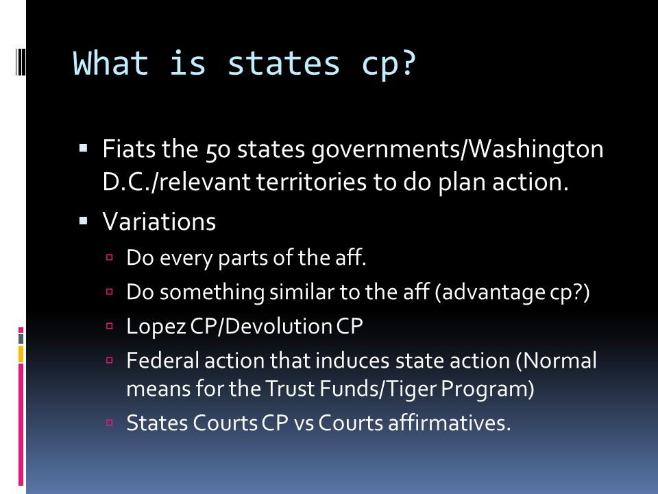 What is states cp.